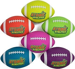 Atomic Athletics 6 只装霓虹橡胶操场足球 - 青少年 7 号,10.5 英寸球,带气泵和网状收纳袋 K-Roo Sports 出品