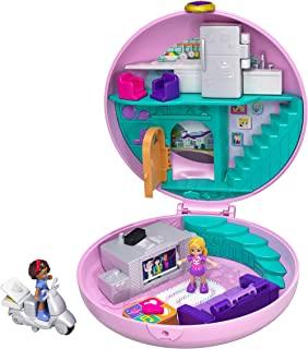 Polly Pocket GDK82 睡衣派对 甜甜圈客厅 Polly 与 Shani,适用于4岁以上女孩的玩具