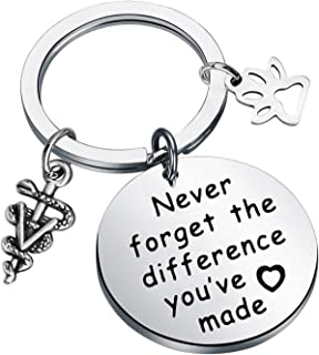 MYOSPARK *钥匙链 *技术礼品 Never Forget The Difference You've Made *感谢珠宝礼物