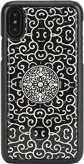 Ikins iPhone X 天然贝壳 Liana 黑色的框架(Ikins Liana)iPhone保护壳 5.8寸【日本正规代理店品】 I10988i8