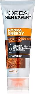 L'Oreal Paris 巴黎欧莱雅 Men Expert Hydra Energy多效合一保湿霜,适合敏感的男性皮肤,快速吸收,无残留(75毫升)
