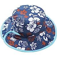 Baby Banz UV 双面儿童帽,蓝色 / 棕色,适合2 – 5岁。