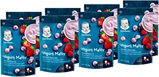 Gerber Graduates Yogurt Melts, Strawberry and Mixed Berry, 8 Count