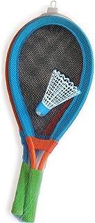 alldoro 60055 游戏套装 Skyball 羽毛球和 2 个球拍约 75 厘米,户外羽毛球,巨型网球比赛,适合 5 岁以上儿童和成人,XXL 垒球 LED