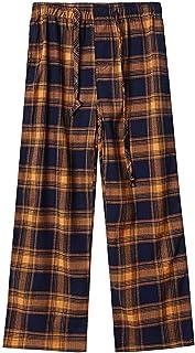 DDILKE 男童格子睡裤,柔软长休闲格子睡裤
