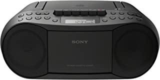 Sony 索尼 CFD-S70 盒式磁带播放器(CD,盒式磁带,收音机),黑色