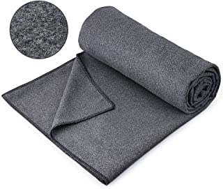 JBM 瑜伽毛巾 200.7 厘米 x 152.4 厘米瑜伽毯柔软防滑瑜伽毛巾 吸汗折叠瑜伽垫毛巾 适用于瑜伽冥想普拉提和锻炼 - 均码
