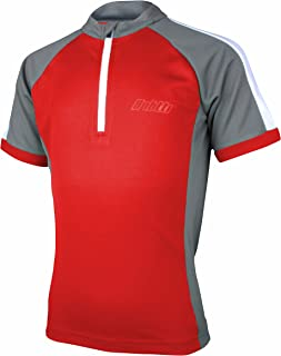 bpbtti 儿童自行车运动衫短袖,带有 1 个后口袋 - 吸湿排汗,透气,速干自行车衬衫