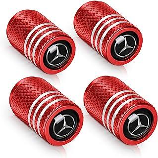 4 件套汽车车轮轮胎阀杆盖适用于奔驰 A 级 C 级 E 级 CLA CLS AMG GLC GLE GLS 造型装饰配件
