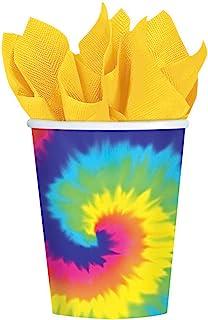 Amscan Feeling Groovy 60 年代主题热敏纸杯餐具儿童派对 多种颜色 8 pieces 581152