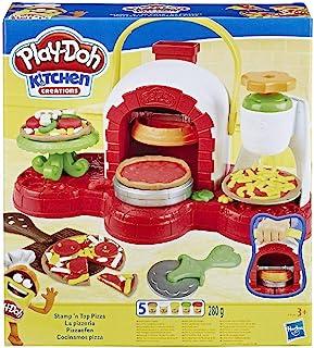 Play-Doh Stamp 'n Top 披萨烤箱玩具,5 种*的 Play-Doh 颜色