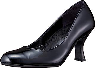 [萨克森沃克] 圆头浅口鞋 鞋跟7.0cm 足围EE~3E 牛皮搪瓷 女式 PFN701