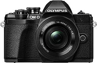 Olympus 奥林巴斯 OM-D E-M10 Mark III 套装,微型四分之三系统相机(1600 万像素,5 轴图像防抖,电子取景器)+ M.Zuiko 14-42 毫米 EZ 变焦镜头 + M.Zuiko 40-150 毫米远摄变焦镜头,黑色