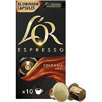 L'OR Origins Colombia Intensity 8 Nespresso咖啡机兼容咖啡胶囊(每套10包,共…