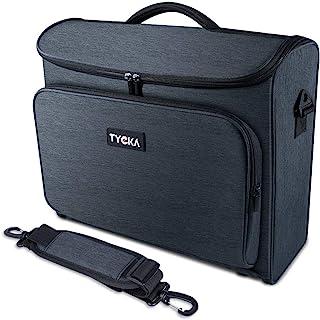 视频投影仪保护套 TYCKA 防护投影仪收纳包 防震投影仪便携包 带肩带 配件存储袋 适用于投影仪设备 (16.5 x 6.7 x 14.5 英寸)