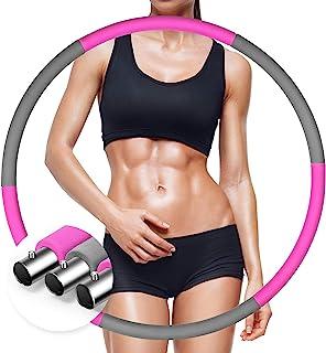 锻炼圈适合成人减重,锻炼时使用的加重箍,不锈钢管可拆卸组装健身圈,可调节重量设计,适合家庭锻炼,*燃烧