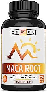 Maca Root Capsules with Black maca, Wellness Supplement for Men & Women, Boosts Energy -120Count