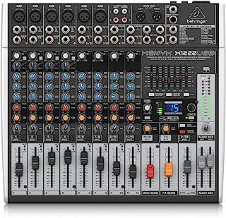 Behringer XENYX x1222usb 16 - 通道2 / 2总线控制室带 XENYX MIC preamps, 1 - Knob 压缩机, 24 - Bit 多 - FX 和 USB 音频接口