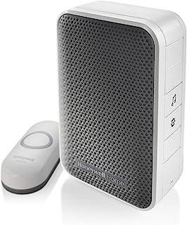 Honeywell RDWL917AX2000/E 系列 9 便携式无线门铃/门铃和按钮按钮 白色 均码 RDWL313P2000/E 需配变压器