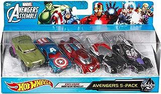 Hot Wheels Marvel 复仇者联盟压铸车模(5 件装)