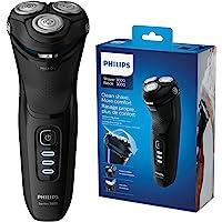 Philips 飞利浦 新系列 3000 干湿两用男士电动剃须刀,带 5D 枢轴和Powercut刀片,闪亮黑色 -S3…