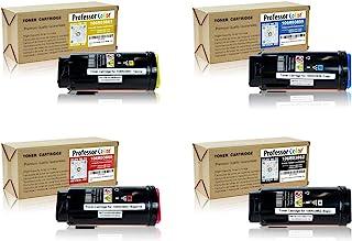 Professor Color 兼容硒鼓替换件适用于 Xerox VersaLink C500 C505(1 个黑色 106R03862,1 个青色 106R03859,1 个洋红色 106R03860,1 个黄色 106R03861)