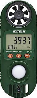 Extech EN100 紧凑型湿度温度计,带光传感器