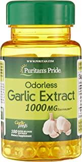 Puritan's Pride 普丽普莱无味蒜 1000 毫克 - 100 粒软胶囊