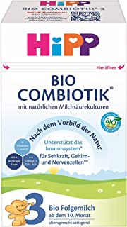 HiPP 喜宝 Bio Combiotik 婴儿奶粉 3段(适用于10月以上婴儿),4盒装(4 x 600g)