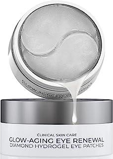 韩国护肤   30 对眼下胶原蛋白贴片   富含保湿,钻石水凝胶眼膜,垫子,适用于浮肿眼部、眼袋、黑眼圈和皱纹*,含透明质酸