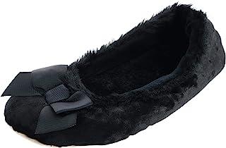 isotoner 女式 Iridescent Velour Krista 芭蕾舞鞋