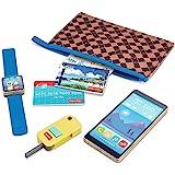 Fisher-Price 便携式钱包 - 7 件套假装游戏礼品套装,实木,适合 3 岁及以上儿童