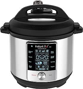 Instant Pot Max 6夸脱(5.676升)多用途电压力锅,15psi压力烹饪, 低温烹饪,自动蒸汽释放控制和触摸屏 需配变压器