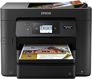 Epson 爱普生 WorkForce Pro WF-4730 无线多功能一体彩色喷墨打印机,复印机,扫描仪,带 Wi-Fi 直接和墨水套装 仅打印机 黑色 需配变压器