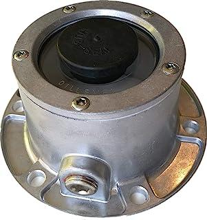 Trackon Parts 六孔铝轮毂盖,带管道插头,343-4024 直接更换,含垫圈 - 1 件装,适用于半卡车拖拉机拖车