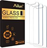 Ailun 玻璃屏幕保护膜适用于 iPhone 12/iPhone 12 Pro 2020 6.1 英寸 3 件装钢化玻…