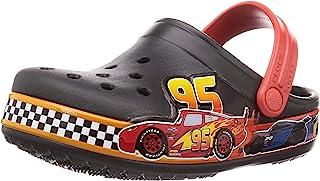 crocs 卡駱馳 兒童迪斯尼和皮克斯汽車圖案洞洞鞋 | 幼兒滑水鞋,男孩,女孩款