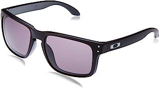 Oakley Holbrook 男士时尚设计师太阳镜 - 哑光黑色/暖灰色 均码 黑色 OO9102-01-AMA