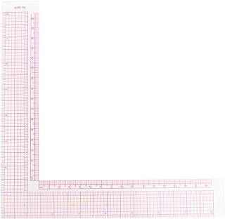 缝纫尺塑料 L 形尺子 法式曲线缝纫测量专业定制工艺专业工具(粉色)