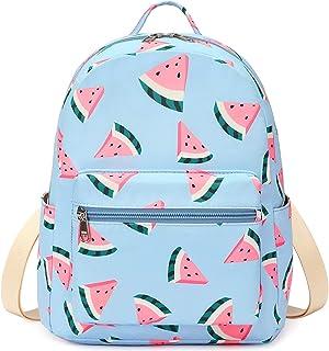 迷你背包女孩青少年可爱小背包钱包休闲旅行书包 Y9151 Watermelon-Light Blue