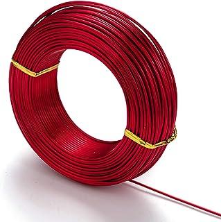 Craftdady 82 英尺红色铝线 9 号可弯曲金属工艺线 3 毫米柔性造型线适用于玩偶骨架宝石包装珠宝制作