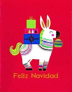 The Gift Wrap Company 圣诞贺卡 Feliz Navidad 3.75 x 4.75-Inches 79889