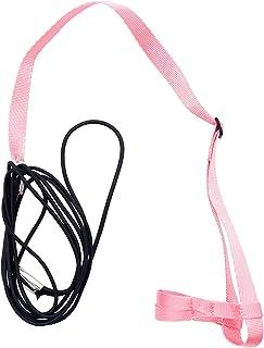 Yantan 宠物鸟胸背带和牵引带,可调节鹦鹉鸟胸背带 - 宠物防咬训练绳户外飞行胸背带和牵引绳(P)