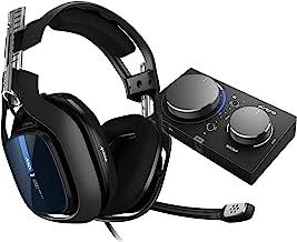 ASTRO Gaming A40 TR,游戏耳机带电缆,MixAmp Pro TR,Gen 4,ASTRO Audio V2,杜比音频,可更换麦克风,游戏/语音平衡控制,兼容 PS5,PS4,PC,Mac - 黑色/蓝色