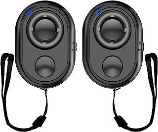 蓝牙相机远程快门适用于智能手机,Aliopis 多功能 Tiktok 遥控器,用于滚动视频,拍摄视频,兼容 iPhone/Android 手机(iOS 14.3 和 Android 11),2 件装