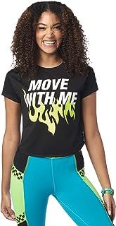 Zumba 宽松舞蹈健身图案 T 恤运动锻炼上衣