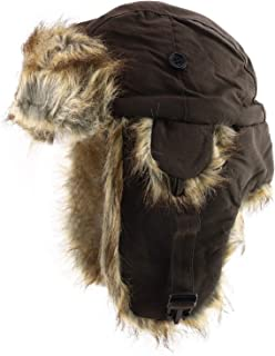 DECKY 飞行员人造毛皮内衬士兵帽带可调式耳罩