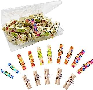 ULVBABI 彩色推针夹(20 个),装饰工艺纸木夹带拇指,用于公告说明板软木瓷砖艺术品 笔记照片工艺和墙壁装饰 (20)