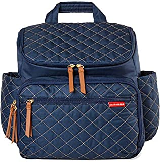 Skip Hop 尿布包背包:Forma,多功能婴儿旅行包,带更换垫和婴儿车附件,*蓝