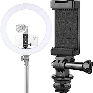 Anwenk 手机支架热靴安装适配器带麦克风/闪光灯兼容 Gopro Hero DJI Osmo 运动相机智能手机,可连接 DSLR 相机/环形灯/三脚架